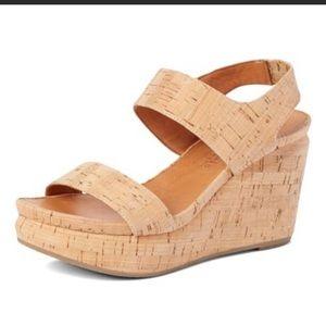 Kenneth Cole Cork Wedged Sandals